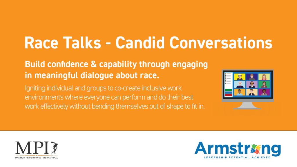 Be the change! Race Talks – Candid Conversations Webinar